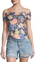 Rebecca Taylor Women's Gigi Floral Off-the-Shoulder Jersey Top