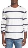 Lacoste Stripe Long Sleeve Crewneck T-Shirt