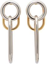 Alexander Wang Silver and Gold Triple Link Earrings