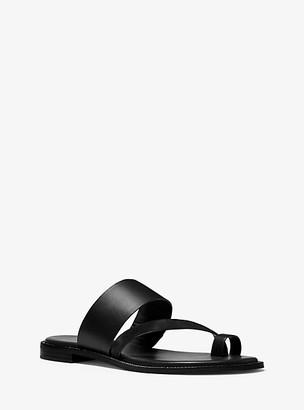 Michael Kors Pratt Leather Sandal