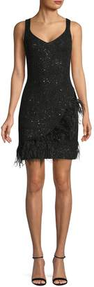 Laundry by Shelli Segal Lace Embellished Cocktail Dress