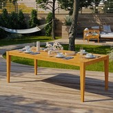 Dowell Teak Dining Table Breakwater Bay