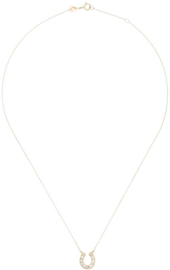 Adina Reyter 14K Yellow Gold diamond horseshoe necklace