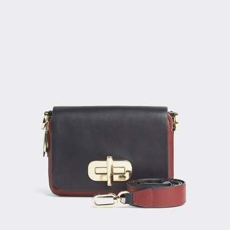Tommy Hilfiger Leather Turnlock Crossbody Bag