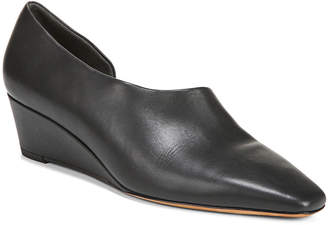 Vince Barolo Asymmetric Napa Wedge Loafers