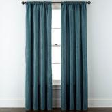 Liz Claiborne Gallery Pleated Taffeta Rod-Pocket Curtain Panel