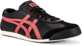 Onitsuka Tiger by Asics Mexico 66 in Black & Burnt Red | FWRD