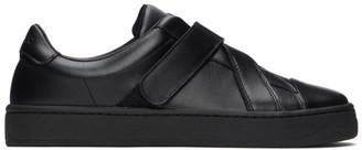 Kenzo Black Velcro Kourt Scratch Sneakers