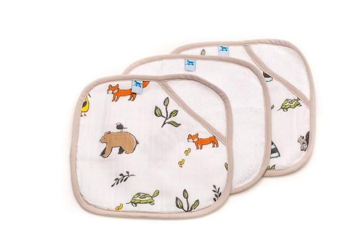 Little Unicorn Cotton Wash Cloth 3 Pack - Forest Friends