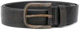 Diesel Vintage-Effect Perforated Belt