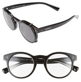 Valentino Women's 47Mm Round Sunglasses - Black/ Black Swarovski