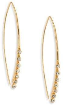 Jules Smith Designs Lure Crystal Fringe Threader Earrings
