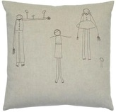 K Studio People Embroidered Pillow