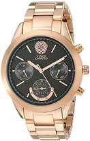 Vince Camuto Women's VC/5242BKRG Multi-Function Black Dial Rose Gold-Tone Bracelet Watch