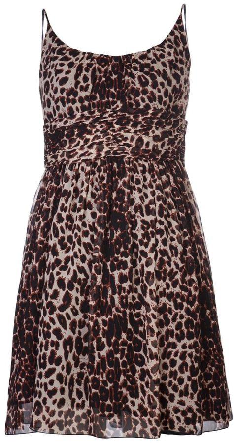 Anna Sui leopard print dress