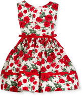 Helena Red Roses Sleeveless Dress, Size 12M-3Y