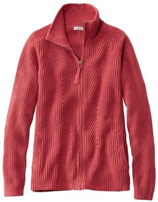 L.L. Bean Women's L.L.Bean Shaker-Stitch Sweater, Zip Cardigan