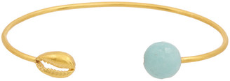 Chan Luu 18K Over Silver Amazonite Cuff