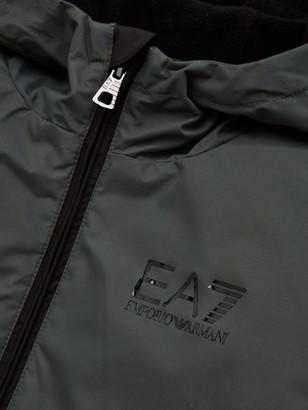 EA7 Emporio Armani Boys Fleece Lined Hooded Windbreaker - Khaki