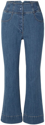 Ulla Johnson Ellis Cropped High-rise Flared Jeans