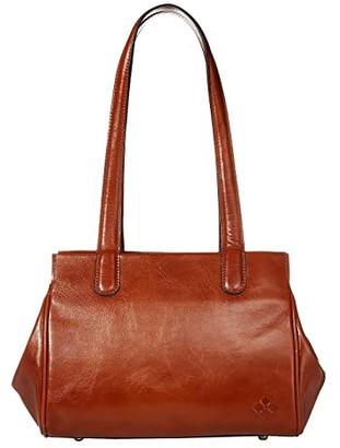 Patricia Nash Lechelle Frame Pocket Satchel (Tan) Handbags