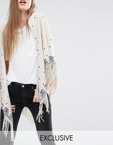Becksöndergaard Exclusive Oversized Scarf with Floral Print and Tassels