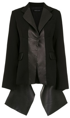 Gloria Coelho Leather Panelled Blazer