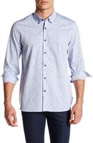 Peter Werth Long Sleeve Printed Dress Shirt