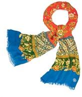Tory Burch Batik Floral Oblong Scarf