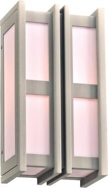 "Ebern Designs Loughborough Outdoor Flush Mount Size: 14"" H X 7.5"" W, Color: Silver"