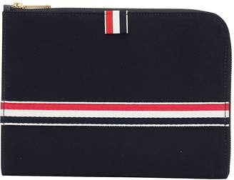 Thom Browne Tricolour Striped Pouch