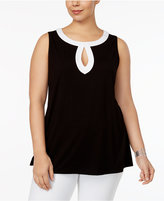 INC International Concepts Plus Size Colorblocked Tunic, Created for Macy's