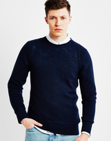 Nudie Jeans Dag Fine Wool Jumper Blue
