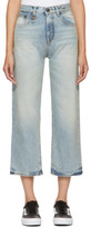 R 13 Blue Camille High-rise Jeans