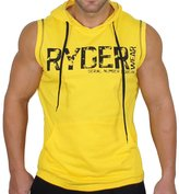 EU-Texus EU Men's Workout Gym Fitness Sleeveless Hoodie Muscle Pullover Tank Tops Large