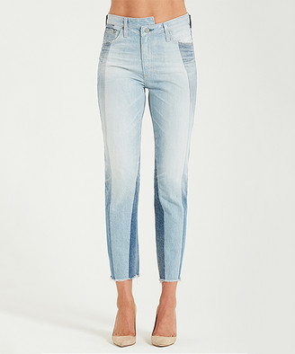 AG Jeans Women's Denim Pants and Jeans 21 - 21 Years Illusion Cropped High-Rise Isabelle Straight-Leg Jeans - Women