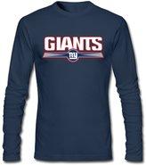 Sofia Men's NY New York Giants Football Logo Shirts L