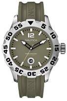 Nautica Men's Watch A14618G Green Dial With Green Resin Strap