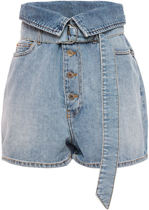 IRO Fliri Fold-over Denim Shorts