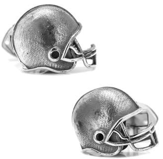Cufflinks Inc. Sterling Silver Football Helmet Cufflinks