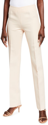 Lafayette 148 New York Metropolitan Charisma Cloth Straight-Leg Pants