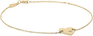 Adina Diamond Heart Stamp Bracelet