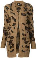 R 13 long leopard pattern cardigan