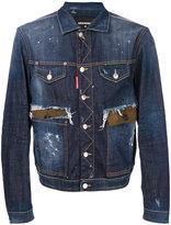 DSQUARED2 distressed denim jacket - men - Cotton/Spandex/Elastane - 46