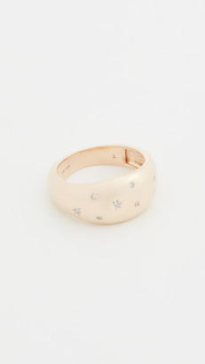 Adina 14k Celestial Diamonds Large Half Dome Ring