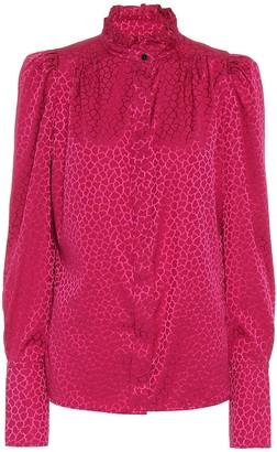 Isabel Marant Lamia stretch-silk jacquard blouse