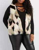 Charlotte Russe Plus Size Multicolor Faux Fur Sweater Vest