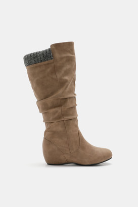 Ardene Knee High Wedge Boots - Shoes |