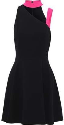 Alice + Olivia Jana Cutout Crepe Mini Dress