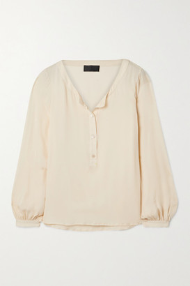 Nili Lotan Kelly Silk-georgette Blouse - Cream